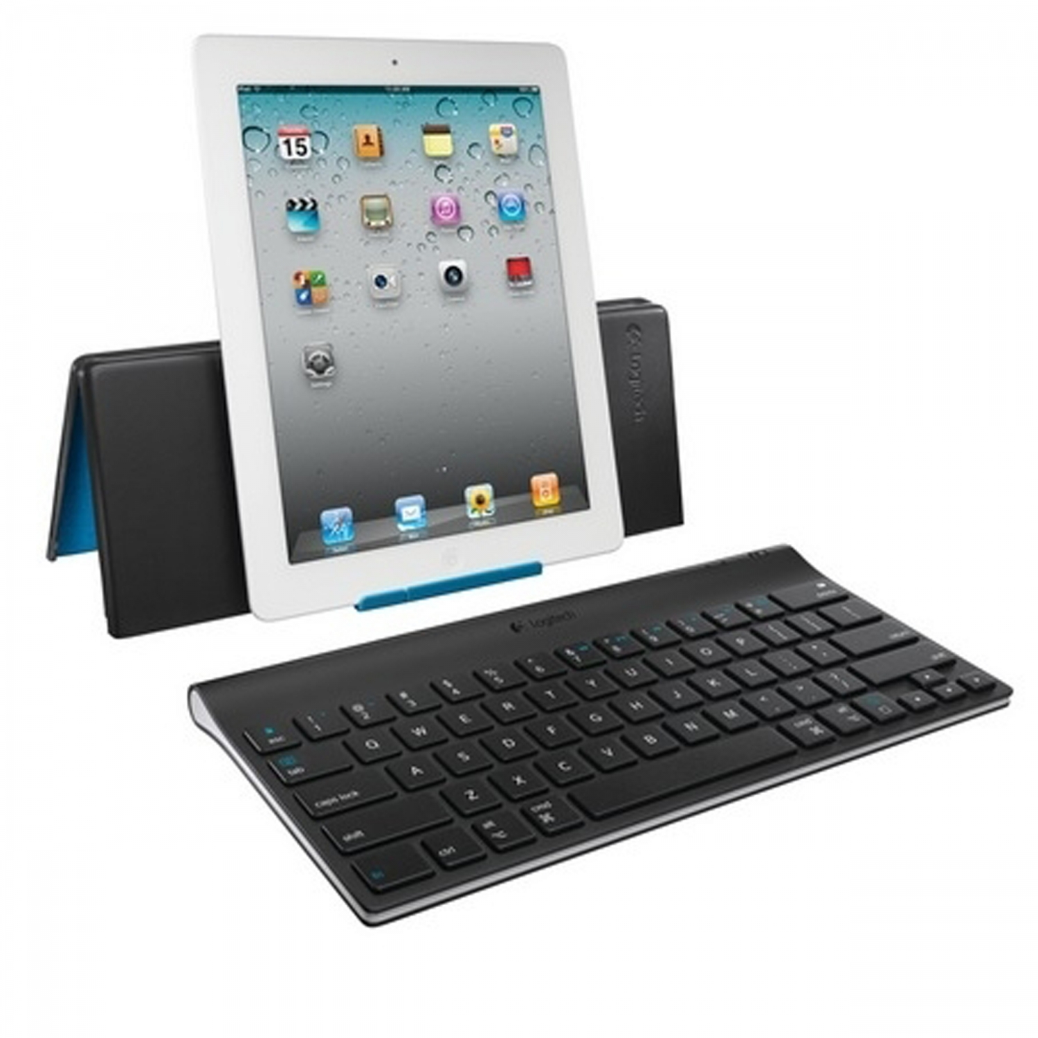 LED COMPUTERS-Wireless Keyboard + Stand for iPAD Logitech ::