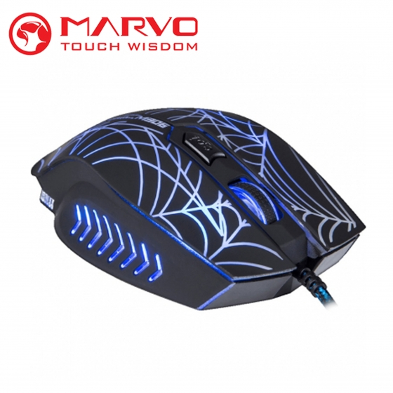 Մկնիկ Marvo M306 (USB, Black, Gaming)-00001