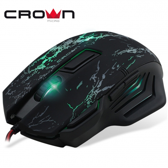 Մկնիկ  CrownMicro CMXG-601 (USB, Black, Gaming)