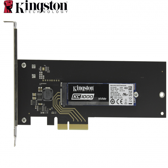 Կուտակիչ  SSD 480GB Kingston SKC1000H/480G (PCIe HHHL AIC, M.2 2280 NVMe, MLC, Reading 2700 MB/s, Writing 1600 Mb/s)