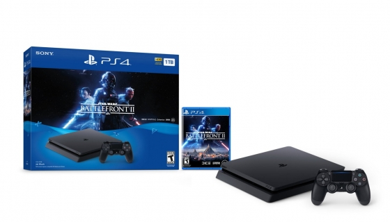 Sony Playstation 4 Pro 1TB Limited Edition (P/N: CUH-7115B, 1xDualShock 4 Controller, Star Wars Battlefront II Game Bundle, Jet Black)