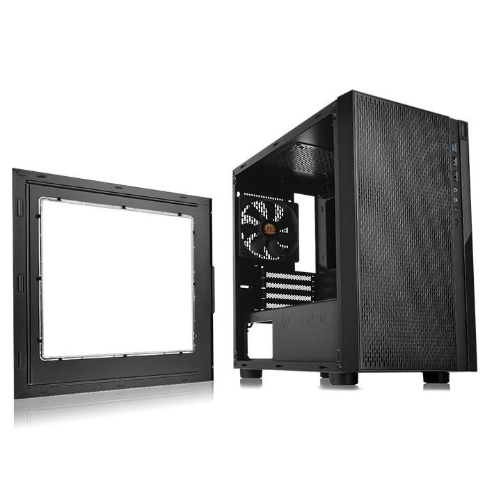 Корпус Thermaltake Versa H18 Window черный без БП mATX 2xUSB2.0 1xUSB3.0 audio bott PSU| CA-1J4-00S1WN-00