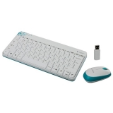 Wireless keyboard + mouse  Logitech MK240 (USB, White)
