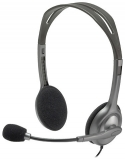 Headset with microphone Logitech H111 (3.5mm, Gray)