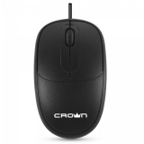 Мышь CrownMicro CMM-128 (3button, 1000dpi, 1.8m, Black, USB)
