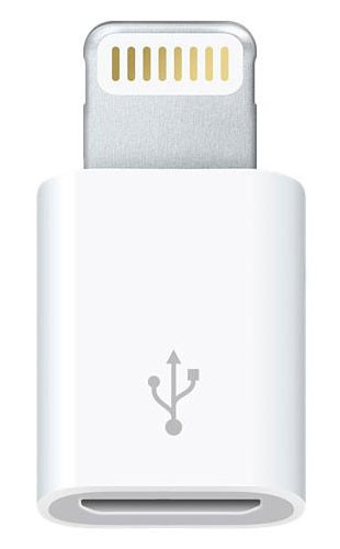 Переходник Apple MD820ZM/A micro USB B Lightning белый| MD820ZM/A