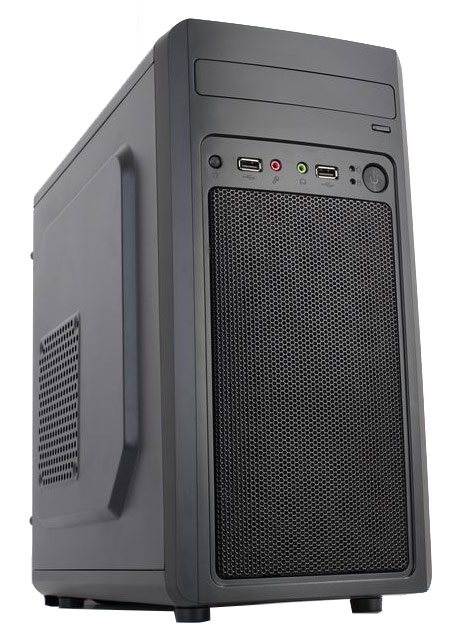 Корпус Accord M-02B черный без БП mATX 1x80mm 2x120mm 2xUSB2.0 audio| ACC M-02B